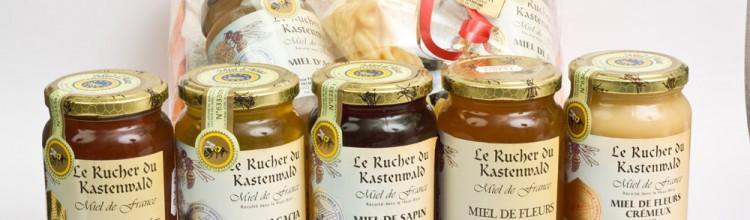 Assortiment miels - Vins Alsace Froehlich - Haut-Rhin Ostheim